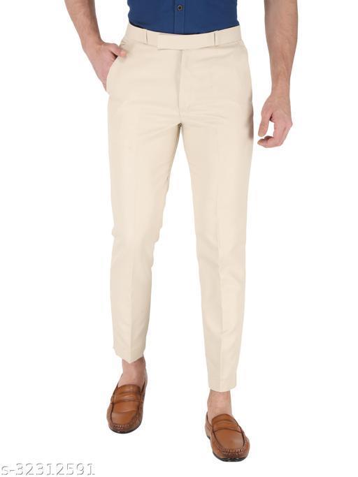 K.S.Brand Cream Formal Trouser Regular Fit