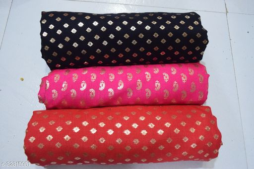 Designer Blouse Fabric Combo (Pack Of 3) Pack 43