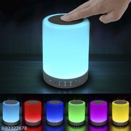 Portable Bluetooth Color Changing Touch Lamp Speaker With USB/Memory Card Slot