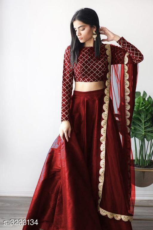 Fabulous Mulberry Silk Women's Lehenga
