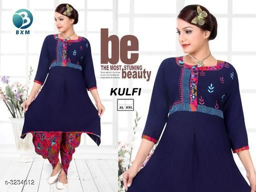 Kurta Sets Attractive Soft Cotton Women's Kurta Set  *Fabric* Kurti - Soft Cotton, Bottom - Soft Cotton  *Sleeves* Sleeves Are Included  *Size* Kurti  - L - 40 in, XL - 42 in, XXL - 44 in ,Bottom - L - 28 in To 32 in, XL - 32 in To 34 in, XXL - 34 in To 38 in  *Type* Stitched  *Length* Kurti - Up To 46 in, Bottom - Up To 40 in  *Description* It Has 1 Piece Of Women's Kurti With 1 Piece Of Bottom  *Work * Printed  *Sizes Available* L, XL, XXL   Supplier Rating: ★4.1 (3038) SKU: DOTI RANI Shipping charges: Rs1 (Non-refundable) Pkt. Weight Range: 500  Catalog Name: Siya Attractive Soft Cotton  Women's Kurta Sets Vol 11 - Step up wear Code: 577-3234612--058