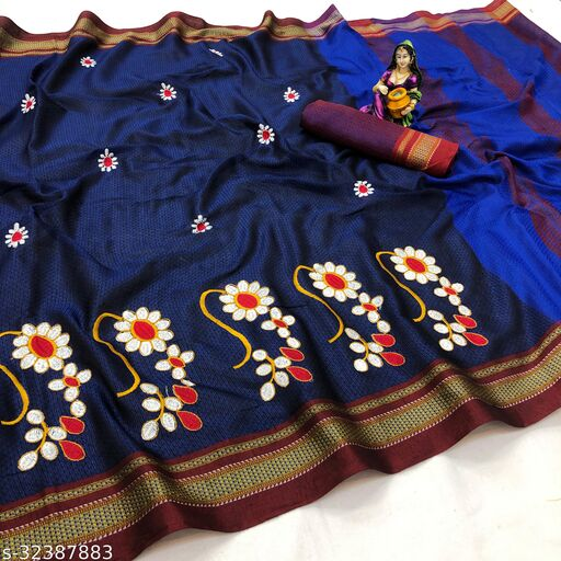 Khan silk Maharashtrian saree with Nath Design