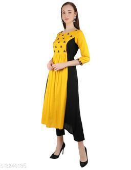 Women's Printed Cotton Long Anarkali Kurti