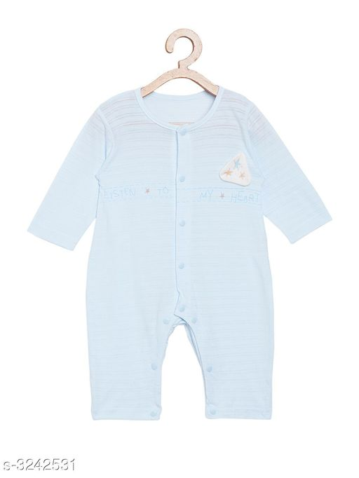 Oneseis & Rompers  Adorable Cotton Printed Kid's Romper  *Fabric* Cotton  *Sleeves* Sleeves Are Included  *Size* Age Group (12 Months - 18 Months) - 16 in Age Group (18 Months - 24 Months) - 18 in Age Group (2 - 3 Years) - 20 in  *Type* Stitched  *Color* Blue  *Description* It Has 1 Piece Of Kid's Romper  *Work * Printed  *Sizes Available* 2-3 Years, 12-18 Months, 18-24 Months *    Catalog Name:  Doodle Adorable Cotton Printed Kid's Rompers Vol 8 CatalogID_447151 C59-SC1184 Code: 873-3242531-