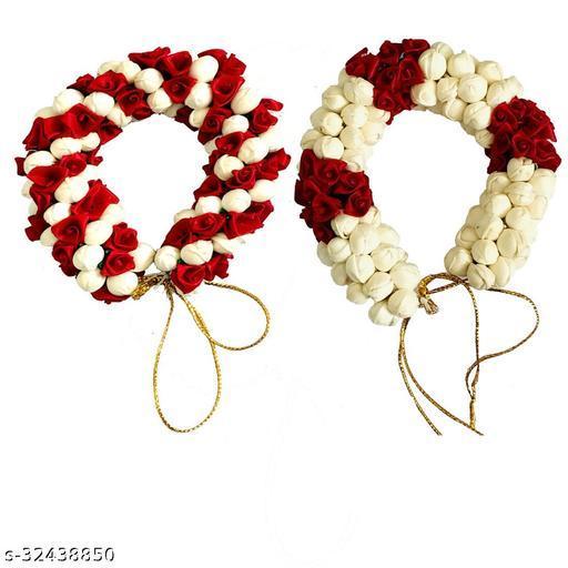 Arooman™Artificial  Flower Juda/Gajra Accessories For Women/Girls ,Pack Content -02,Color-Maroon