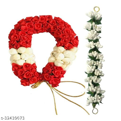 Arooman™ Artificial  Flower Juda/Gajra  For Women/Girls,(Pack of-02,Multicolor)