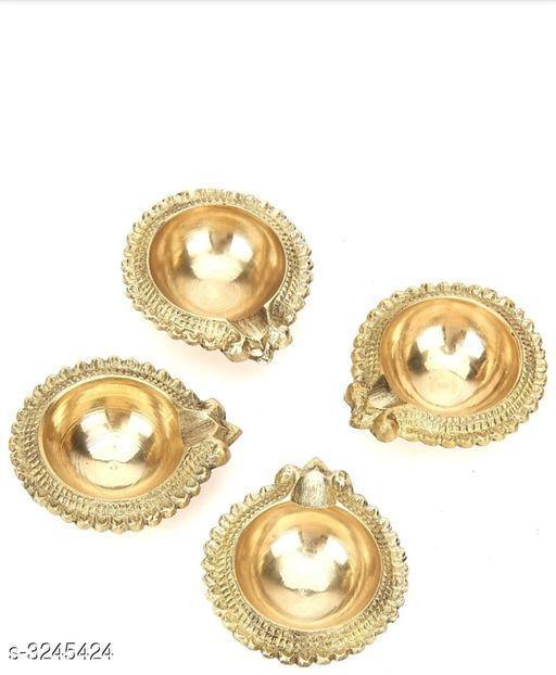 Fancy Brass Diyas (Pack Of 4)