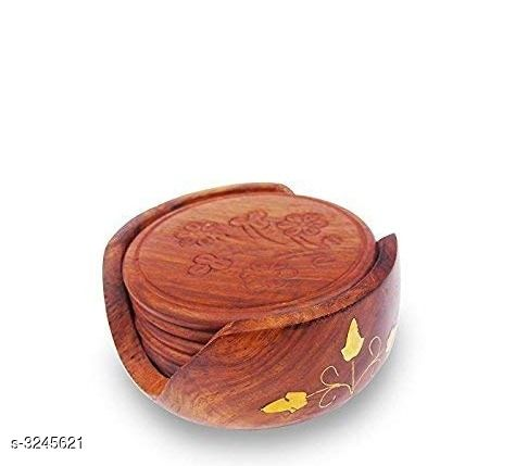 Glassware & Drinkware  Attractive Diwali Home Decors Material: Wooden Size (L X H X W): 10.2 cm x 10.2 cm x 5.1 cm Description:It Has 1 Pack Of Beautiful Coaster Set Country of Origin: India Sizes Available: Free Size *Proof of Safe Delivery! Click to know on Safety Standards of Delivery Partners- https://ltl.sh/y_nZrAV3  Catalog Rating: ★3.9 (359)  Catalog Name: Elite Attractive Diwali Home Decors Vol 16 CatalogID_447611 C136-SC1603 Code: 852-3245621-