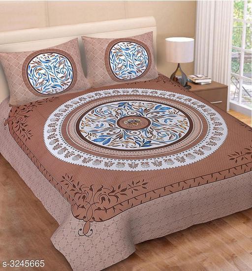 Stylish Cotton Printed Double Bedsheet
