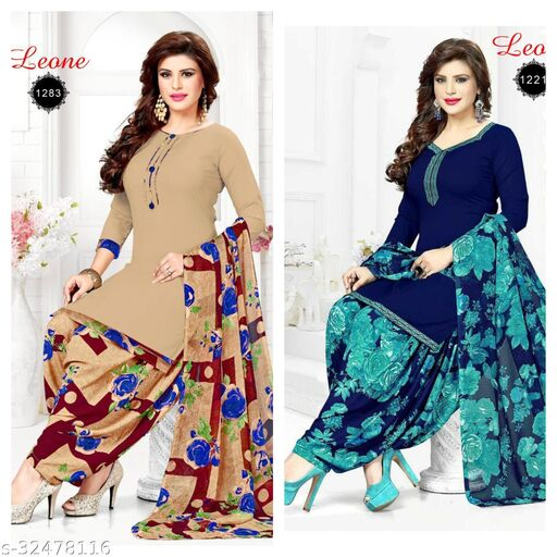 fancy yet styling dress material (pack of 2)