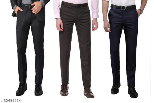 Mens Slim Fit Formal trousers