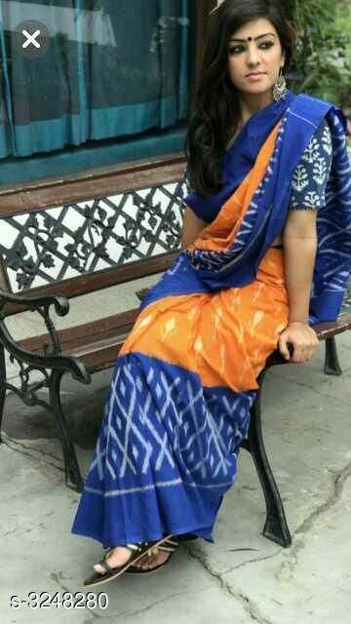 Trendy Mul-cotton sarees along with Blousepiece