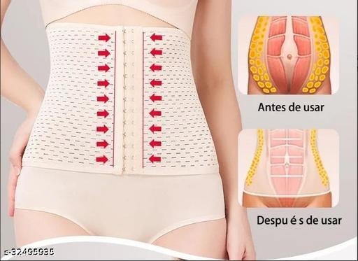 Women Polyester Underbust Corset Shapewear, Women's Present Women's Body Shaper Tummy Sliming Belt (Skin, Free Size) Beige