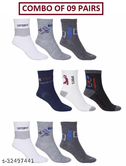 Unisex Ankle Sports Socks (Pack Of 09 Pairs)