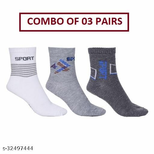 Unisex Ankle Sports Socks (Pack Of 03 Pairs)