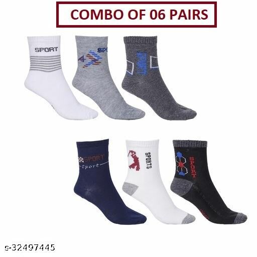 Unisex Ankle Sports Socks (Pack Of 06 Pairs)