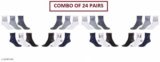 Unisex Ankle Sports Socks (Pack Of 24 Pairs)