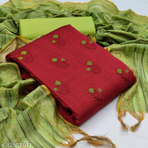 Banarasi cotton suit with banarasi dupatta