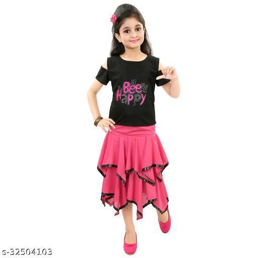 Agile Classy Kids Girls Skirts