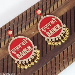 Dulhan Ki Bahen Red Earrings For Bridal