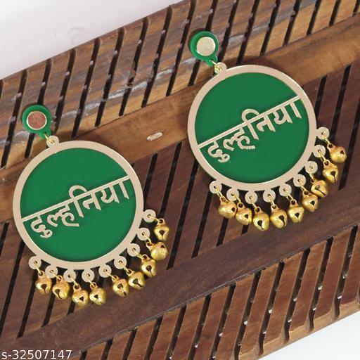 Dulhaniya Green Earrings For Bridal