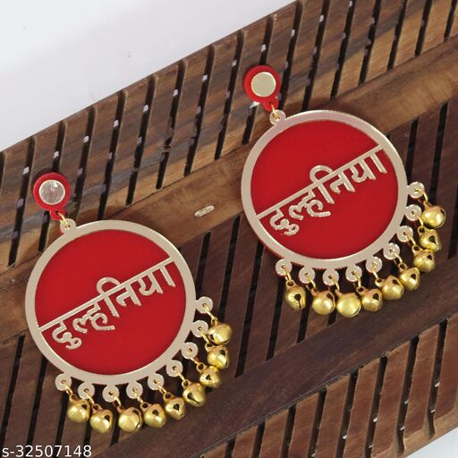 Dulhaniya Red Earrings For Bridal