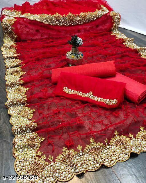 Attractive Net saree