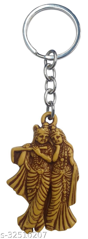 Blessings Radha Krishna Keychain Wooden Effect