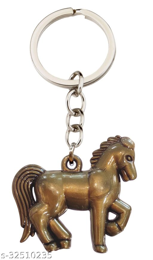 Blessings Horse Keychain Bronze Effect