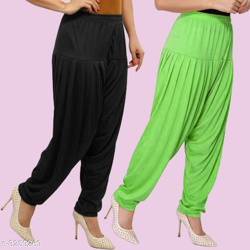 Fabulous Viscose Women's Patiala Pant ( Pack Of 2 )