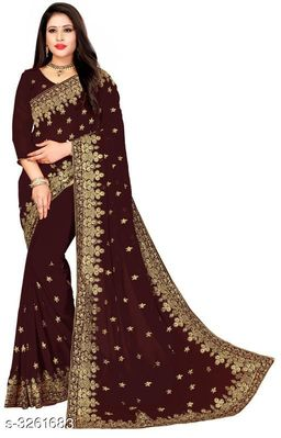 Elegant Georgette Women Saree