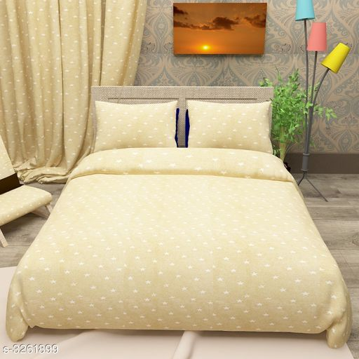 Star Glace  Cotton Printed Double Bedsheet