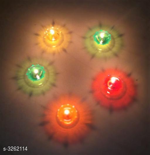 Designer Plastic Candles Diya For Diwali