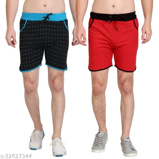Diaz Cotton Printed shorts for boys & Mens pack of 2