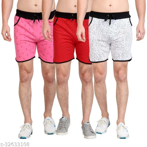Diaz Cotton Printed short for boys & mens Pack of 3