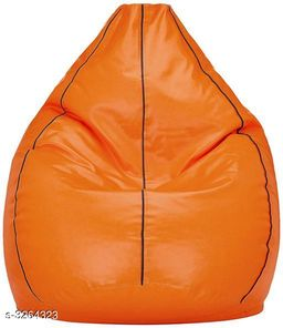 Home Attractive Leatherette Bean Bag Cover