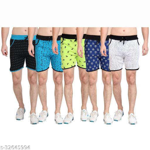 Diaz Cotton Printed shorts for boys &Mens Pack of 5