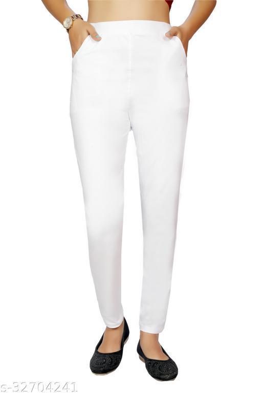 Pitara Women's Cotton Lycra Solid Pocket Capri (SFC-TR-2273-21-WHT_White)
