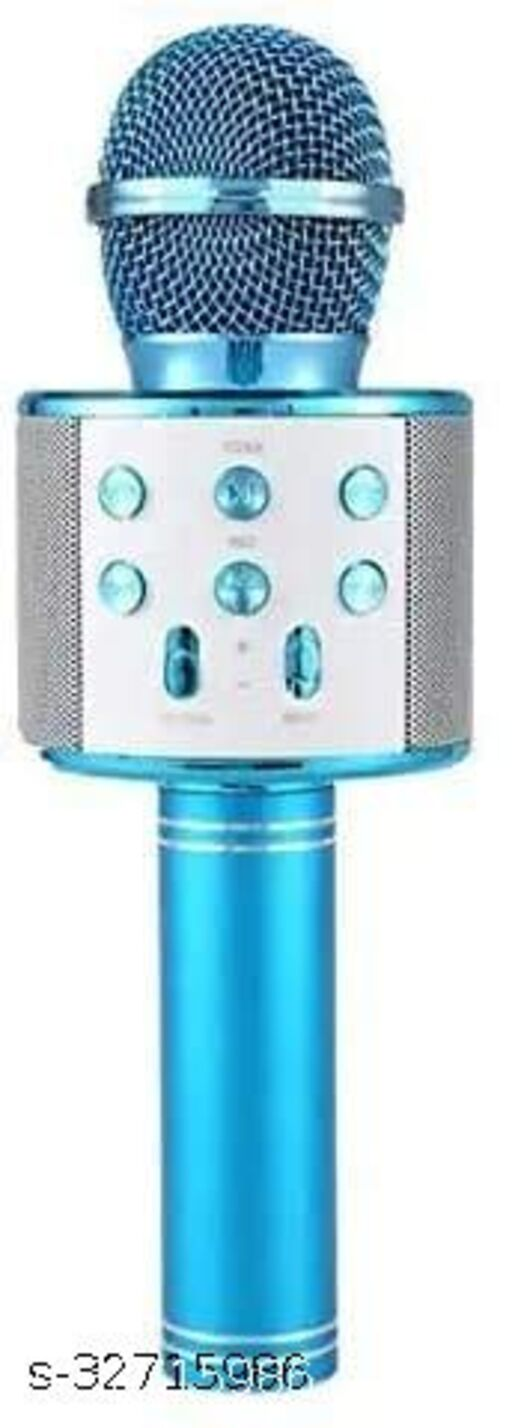 DealsZilla Advanced Handheld Wireless singing Karaoke Mike Multi-Function Bluetooth Mic with Audio Speaker For All Smart Phones(Assorted)