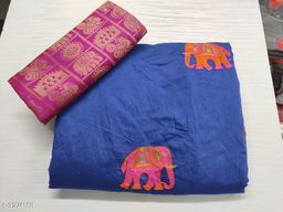 Embroidered Chanderi Saree with Jacquard Blouse Piece