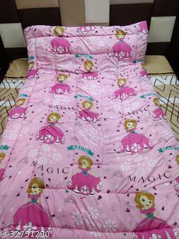 Myra Home Barbie Print Colorfull Disgine baby comforter Filled wd Super Soft Fiber Blanket Size-53 x 88 cm