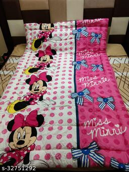 Myra HomeMicky Mouse Colorfull Disgine baby comforter Filled wd Super Soft Fiber Size-53 x 88 cm