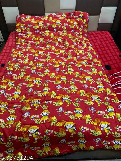 Myra Home Babydoll with Monkey Print Colorfull Disgine baby comforter Filled wd Super Soft Fiber Blanket Size-53 x 88 cm