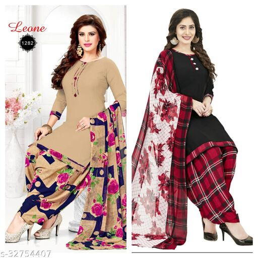 lilly fancy latest suits material(pack of 2)