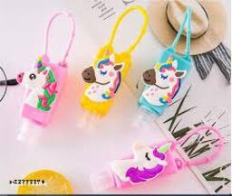 fancy unicorn hand sanitizer bottles with sanitizer for kids gifts for girls and boys - Pack of 4