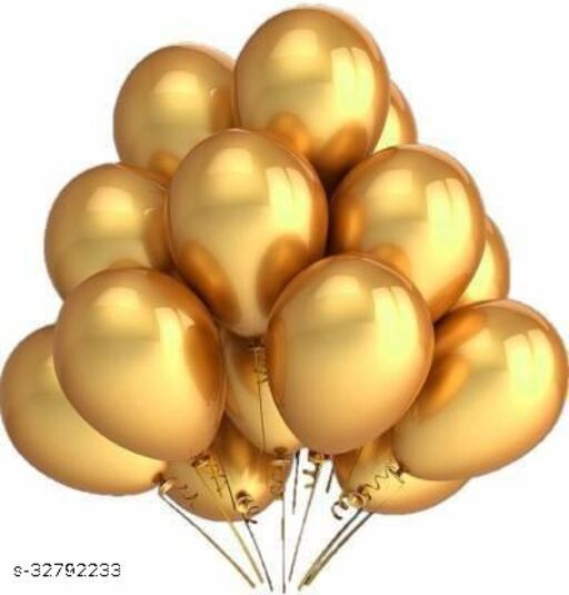 Lifelong  zlox Solid Metallic Gold Balloons Balloon  (Gold, Pack of 100)