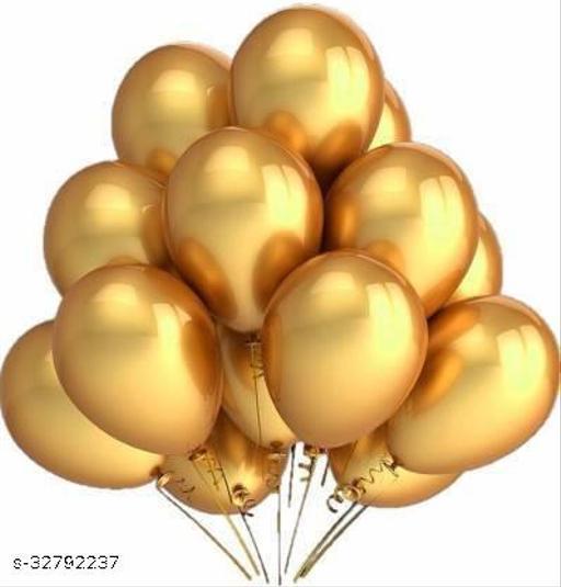 Lifelong  zlox Solid Metallic Gold Balloons Balloon  (Gold, Pack of 50)