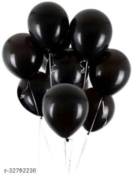 Lifelong Partyballoons ZLOX Solid Black Balloon  (Black, Pack of 100)