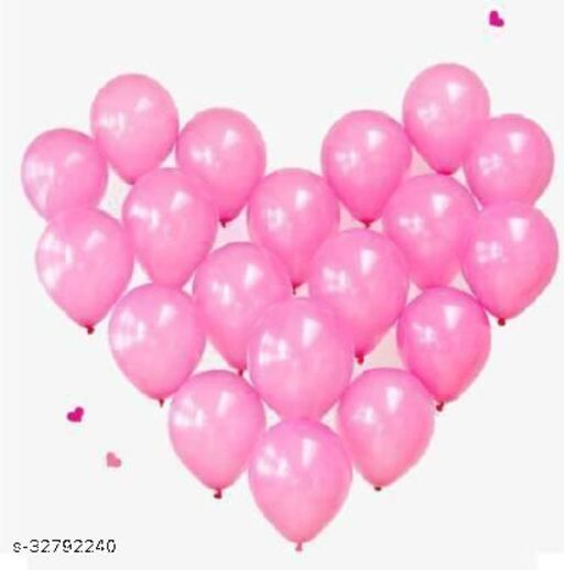 Lifelong Solid PINK MATTALIC BALLON 100 Balloon  (Pink, Pack of 100)