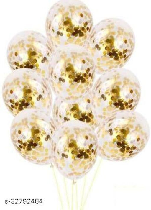 Lifelong  Solid BABBAL08.1 Balloon  (Gold, Pack of 12)